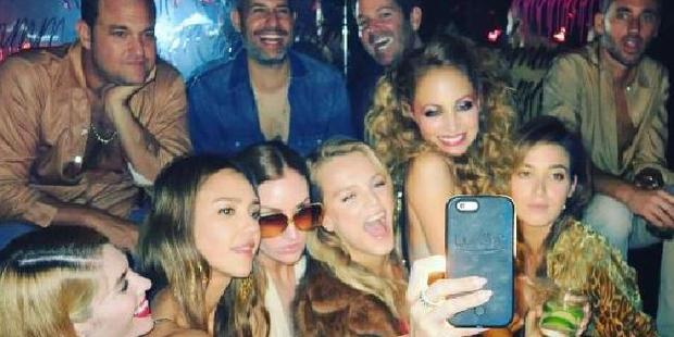 Nicole Richie takes a selfie with Jessica Alba and pals at her 35th birthday bash. Photo / Instagram