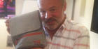 Graham Norton loves his new Travel Wags bag. Photo / Supplied