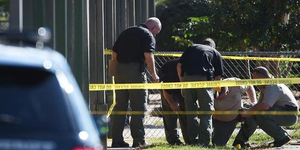 A major police operation is under way at the school. Photo / AP