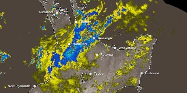 North Island rain radar. Photo / Metservice