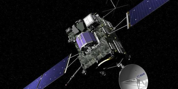 The artist impression of the Rosetta. Picture: J. Huart/ESA via AP.Source:AP
