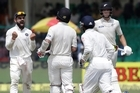 Source: Sky Sport. A collapse of nine wickets for 103 runs, including a torrent of 5-7 to complete the first innings, compromised and possibly curtailed New Zealand's chances of winning the opening test against India in Kanpur.