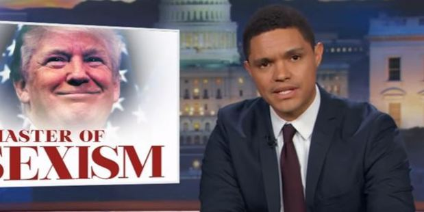 Trevor Noah and his staff aired not one, but two clips of the Republican presidential candidate acting like a total scumbag. Photo / Youtube / The Daily Show