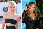 Miley Cyrus is not a fan of Mariah Carey. Photos / AP, Getty Images