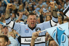 Cronulla Sharks fans have been waiting 49 years for the club's first title. Photo /Getty