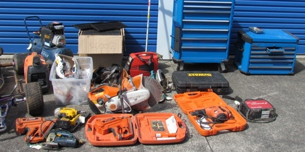 Stolen property estimated to be worth between $100,000 -$200,000 was found following the search of an address in West Auckland.