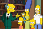 Mr Burns and the Simpson family in the Season 28 premiere of The Simpsons. Photo / Fox