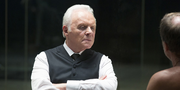 Anthony Hopkins as Dr. Robert Ford, the resort park's founder, in Westworld. Photo / John P. Johnson, HBO