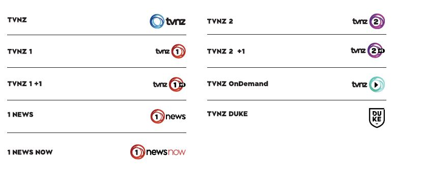 TVNZ has renamed all of its channels.