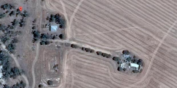 Seen from above, the house lies off an isolated stretch of road by the Wimmera River in outback Victoria. Photo / Google maps