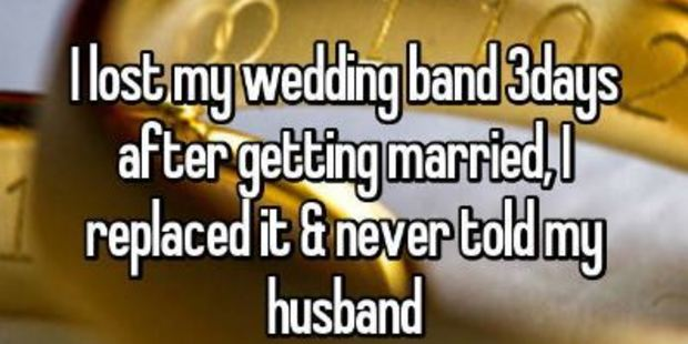 Losing her wedding band wasn't something this woman could tell her husband. Photo / Whisper