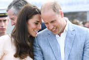 A body language expert says Kate and William's displays of affection on their Canada tour tell a genuine love story. Photo / Getty