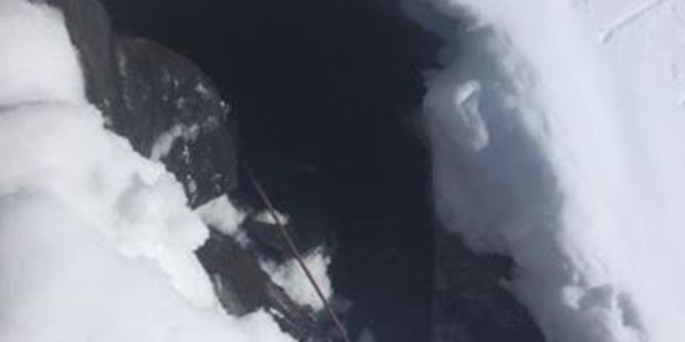 The teen fell 8m down an icy crevice on Mt Ruapehu. Photo/Ruapehu Alpine Rescue Organisation