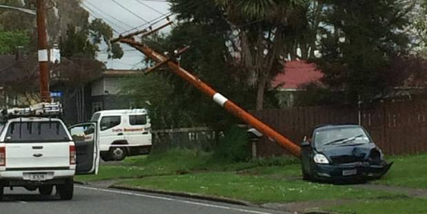 A crash has resulted in power cuts for nearly 1000 customers in Fordlands. PHOTO/SUPPLIED