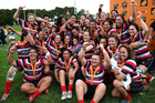 Counties celebrate their Farah Palmer Cup victory. Photo / Photosport
