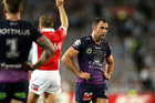 Cameron Smith looks on following the Storm's NRL Grand Final loss to the Sharks. Photo / Photosport