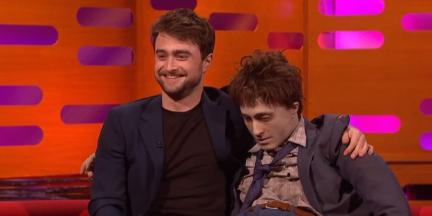 Daniel spoke of his pride for his film Swiss Army Man and was even joined by 'Dead Daniel' - a lifesize corpse modeled on him.
