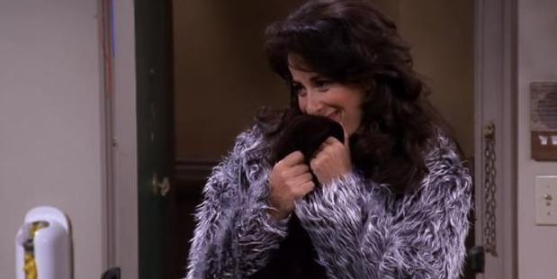 Maggie Wheeler says she had to cover her face to keep from laughing.