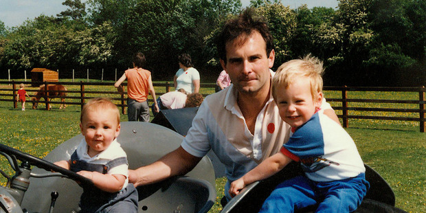 Steve Warne (centre) with sons Christopher (left) and Andrew (right).