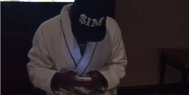 Floyd Mayweather posted a video on Instagram of a table stacked with $100 bills. Photo / Instagram