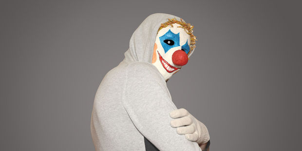 There were reports of a man in a clown mask or make-up hanging around a school. Photo / 123rf