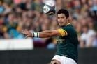 Morne Steyn's kicking prowess is well known to the All Blacks. Picture / AP