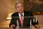 Antonio Guterres takes over as Secretary-General at the start of next year. Photo / AP
