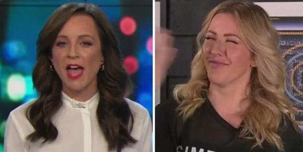 Loading Carrie Bickmore prodded Ellie Goulding about her friendship with Prince Harry on The Project last night. Photo / Channel 10