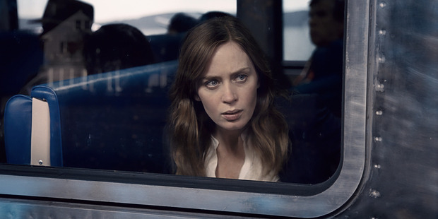 Emily Blunt in a scene from the film The Girl on the Train.