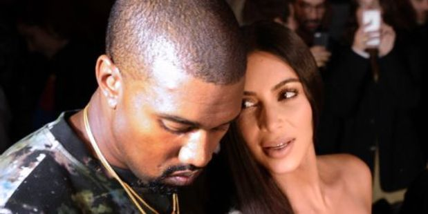 Loading Kanye West and Kim Kardashian attending a fashion show in Paris. Photo / AFP
