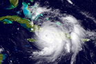 A GOES East satellite image provided by the National Oceanic and Atmospheric Administration, shows Hurricane Matthew over the Caribbean region. Photo / AP