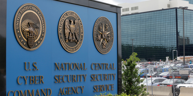 The National Security Agency (NSA) campus in Fort Meade, Maryland. Photo / AP