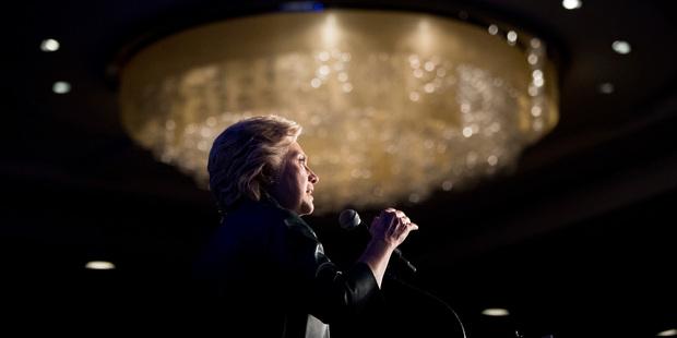Democratic presidential candidate Hillary Clinton speaks in Washington. Photo / AP