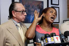 Maribel Martinez, accompanied by her attorney Sanford Rubenstein, speaks at a news conference at her attorney's office in New York. Photo / AP