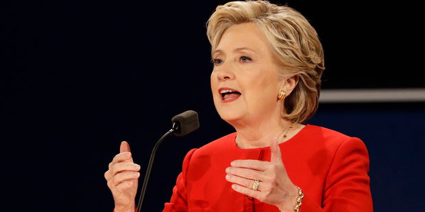 Democratic presidential candidate Hillary Clinton used Trump's stubbornness against him in last week's debate and hassled him about his tax returns. Photo / AP