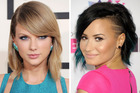 Music stars Taylor Swift and Demi Lovato. Photo / Getty Images