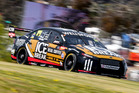 Richie Stanaway gets his first taste of the Mount Panorama circuit Thursday afternoon. Photo / Matthew Hansen