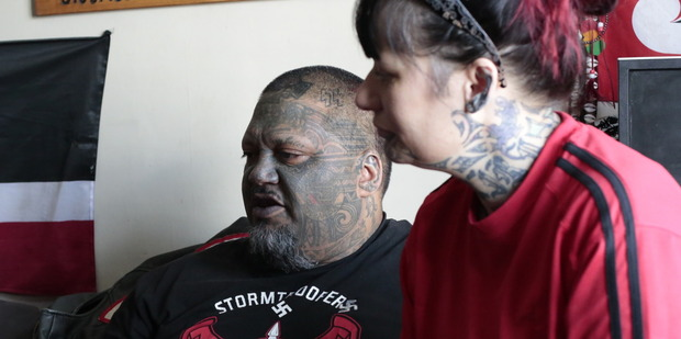 Te-Kai-Po (left) and Missy Ahuriri have been seeking out those living on the streets in Palmerston North, offering them food and support. Photo: Karla Karaitiana