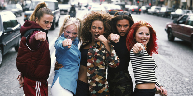 English pop group The Spice Girls, Paris, September 1996. Left to right: Melanie Chisholm, Emma Bunton, Melanie Brown, Victoria Beckham and Geri Halliwell. Photo / Getty
