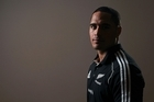 Aaron Smith poses during a New Zealand All Blacks media session . Photo/Getty Images