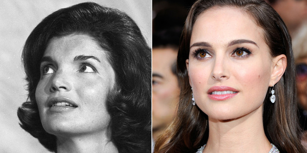 In this composite image a comparison has been made between Jackie Kennedy (L) and actress Natalie Portman. Photo / Getty