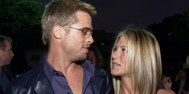 Brad Pitt and Jennifer Aniston at the premiere of Rock Star at the Mann Village Theater in Los Angeles. Photo / Getty