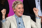 Executive producer Ellen DeGeneres speaks onstage during the 'One Big Happy' panel discussion at NBC/Universal. Photo / Getty