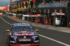 Jamie Whincup drives through pit lane during the Bathurst 1000 last year. Photo / Getty Images