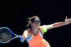 Maria Sharapova during the quarter final against Serena Williams at the Australian Open. Photo / Getty Images