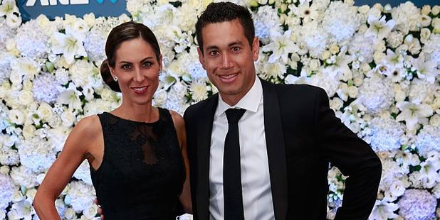 Ross Taylor (R) and Victoria Taylor (L). Photo / Getty