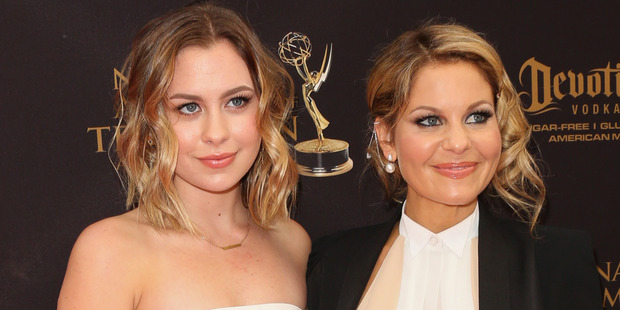 Actress Candace Cameron-Bure (R) and her Daughter Natasha Bure (L) attend the 2016 Daytime Emmy Awards. Photo / Getty