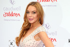 Lindsay Lohan arrives for the 2016 Butterfly Ball at The Grosvenor House Hotel on June 22, 2016 in London. Photo / Getty