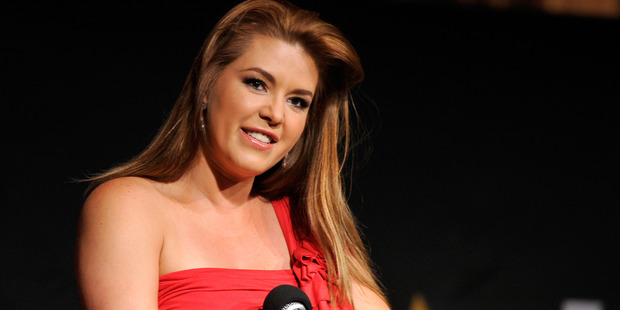 Actress Alicia Machado speaks onstage during the NALIP 2016 Latino Media Awards at Dolby Theatre on June 25, 2016. Photo / Getty