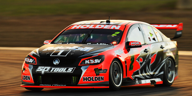 Garth Tander during practice for the V8 Supercars Ipswich Supersprint. Photo / Getty Images